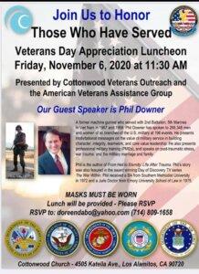 Veterans Day Appreciation Lunch Flyer